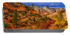 Portable Battery Charger featuring the photograph Autumn Arroyo by Greg Norrell