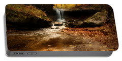 Autumn At Blue Hen Falls Portable Battery Charger