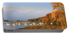 Autumn At Cold Spring Harbor Portable Battery Charger by Dora Sofia Caputo Photographic Art and Design