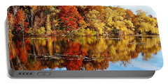 Autumn At Horn Pond Portable Battery Charger