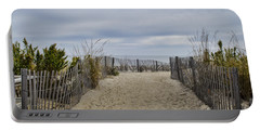 Autumn At The Beach Portable Battery Charger