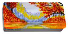 Autumn At The Lake Portable Battery Charger by Darren Robinson
