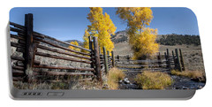 Portable Battery Charger featuring the photograph Autumn At The Lamar Buffalo Ranch by Jack Bell