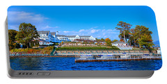 Autumn At The Sagamore Hotel - Lake George New York Portable Battery Charger by David Patterson