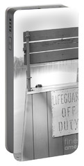 Autumn At White Lake Bw Portable Battery Charger