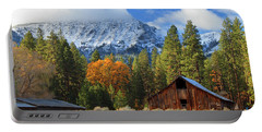 Autumn Barn At Thompson Peak Portable Battery Charger