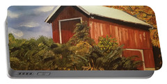 Autumn - Barn - Ohio Portable Battery Charger