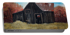 Autumn - Barn -orange Portable Battery Charger