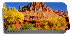 Portable Battery Charger featuring the photograph Autumn Beneath The Castle by Greg Norrell