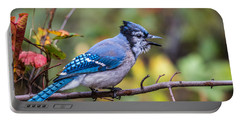 Autumn Blue Jay Portable Battery Charger