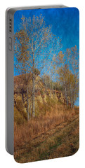 Autumn Bluff Painted Portable Battery Charger