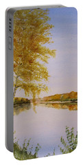 Autumn By The River Portable Battery Charger by Martin Howard