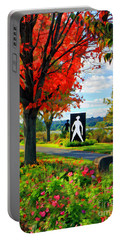 Autumn Canvas Portable Battery Charger