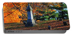 Autumn Cemetery Visit Portable Battery Charger