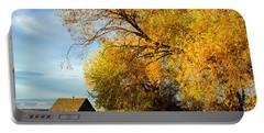 Autumn Colors - Lyons Road - Kittitas County - Washington - October  Portable Battery Charger