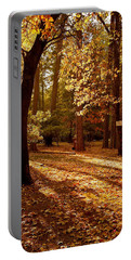 Autumn Country Lane Evening Portable Battery Charger
