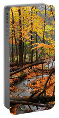 Portable Battery Charger featuring the photograph Autumn Creek In The Rain by Rodney Lee Williams