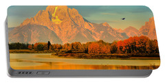 Autumn Dawn At Oxbow Bend Portable Battery Charger