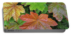 Autumn Devil's Club Portable Battery Charger by Cathy Mahnke