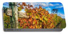 Autumn Falls At The Winery Portable Battery Charger