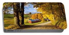 Autumn Farm In Vermont Portable Battery Charger by Brian Jannsen