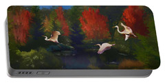 Portable Battery Charger featuring the photograph Autumn Flight by Melinda Hughes-Berland