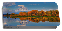 Portable Battery Charger featuring the photograph Autumn Foliage At The Oxbow by Greg Norrell