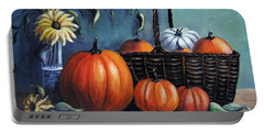 Portable Battery Charger featuring the painting Autumn Gifts by Vesna Martinjak