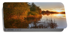 Autumn Glow At The Lake Portable Battery Charger