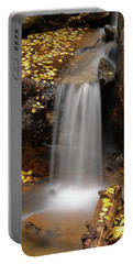 Autumn Gold And Waterfall Portable Battery Charger