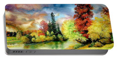 Autumn In Park Portable Battery Charger