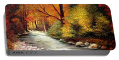 Autumn In The Forest Portable Battery Charger
