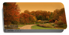 Autumn In The Park - Holmdel Park Portable Battery Charger