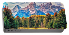 Autumn In The Tetons Portable Battery Charger by Dominic Piperata