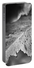 Autumn Leaves B And W Portable Battery Charger
