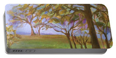 Portable Battery Charger featuring the painting Autumn Leaves by Mary Wolf