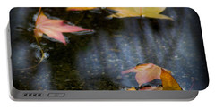 Autumn Leaves On Water Portable Battery Charger