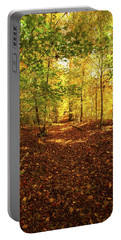 Autumn Leaves Pathway  Portable Battery Charger