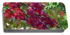 Autumn Leaves Reflections Portable Battery Charger