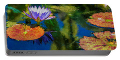 Autumn Lily Pad Impressions Portable Battery Charger