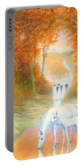 Autumn Morning Portable Battery Charger by Andrew Farley