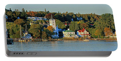 Autumn On Mackinac Island Portable Battery Charger