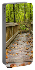 Autumn On The Bridge Portable Battery Charger