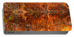 Autumn Paradise Portable Battery Charger by Lourry Legarde