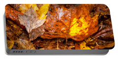 Autumn Pile Portable Battery Charger by Melinda Ledsome