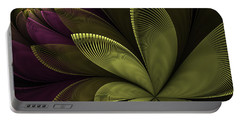 Portable Battery Charger featuring the digital art Autumn Plant II by Gabiw Art