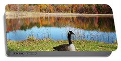 Autumn Pond Goose Portable Battery Charger