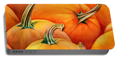 Autumn Pumpkins Portable Battery Charger
