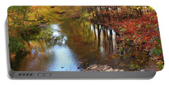 Autumn Reflection Portable Battery Charger by Dora Sofia Caputo Photographic Art and Design