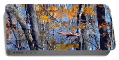 Autumn Reflection With Leaf Portable Battery Charger